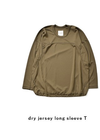 "and wander(アンドワンダー)<br>ドライジャージーロングスリーブTシャツ""dry jersey long sleeve T for WOMEN"" aw93-jt926"