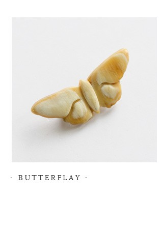 """Si-Si-Si(スースースー)<br>バッファローホーンブローチ""""BUTTERFLAY"""" n-169-5000"""