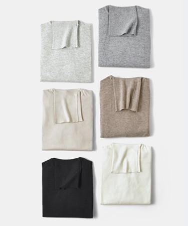Cashmere Silk Company(カシミヤシルクカンパニー) カシミヤシルクタートルネックニットプルオーバー 325