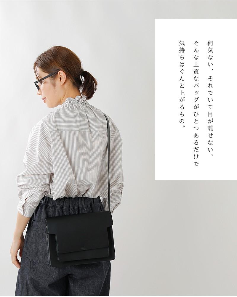 """LORENA(ロレナ)カウレザーフラップショルダーバッグ""""Cora Crossby Bag"""""""