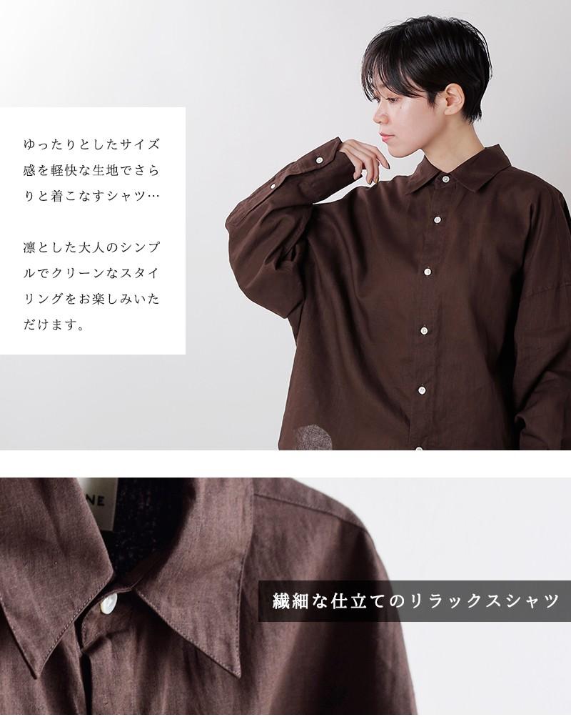 "Shinzone(シンゾーン)リネンコットンロングスリーブシャツ""WINDY SHIRT"""