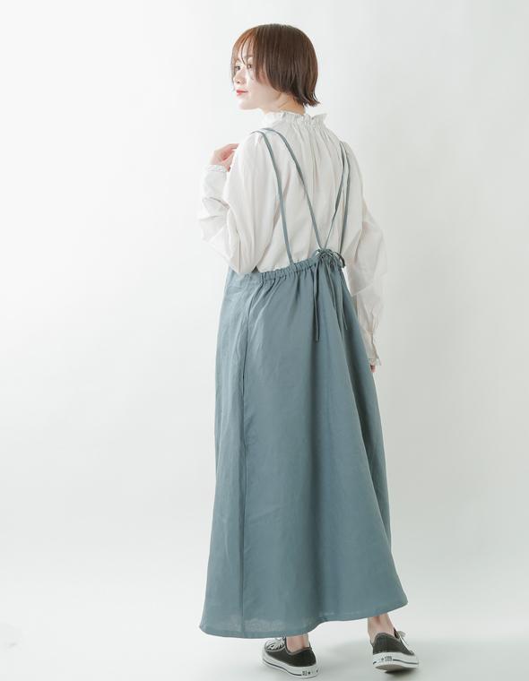 ina(イナ)<br>aranciato別注 リネン胸元フリルキャミソールワンピース 182140-1
