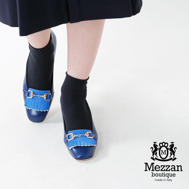 Mezzan Boutique(メザンブティック)ナッパレザービットパンプス 2711