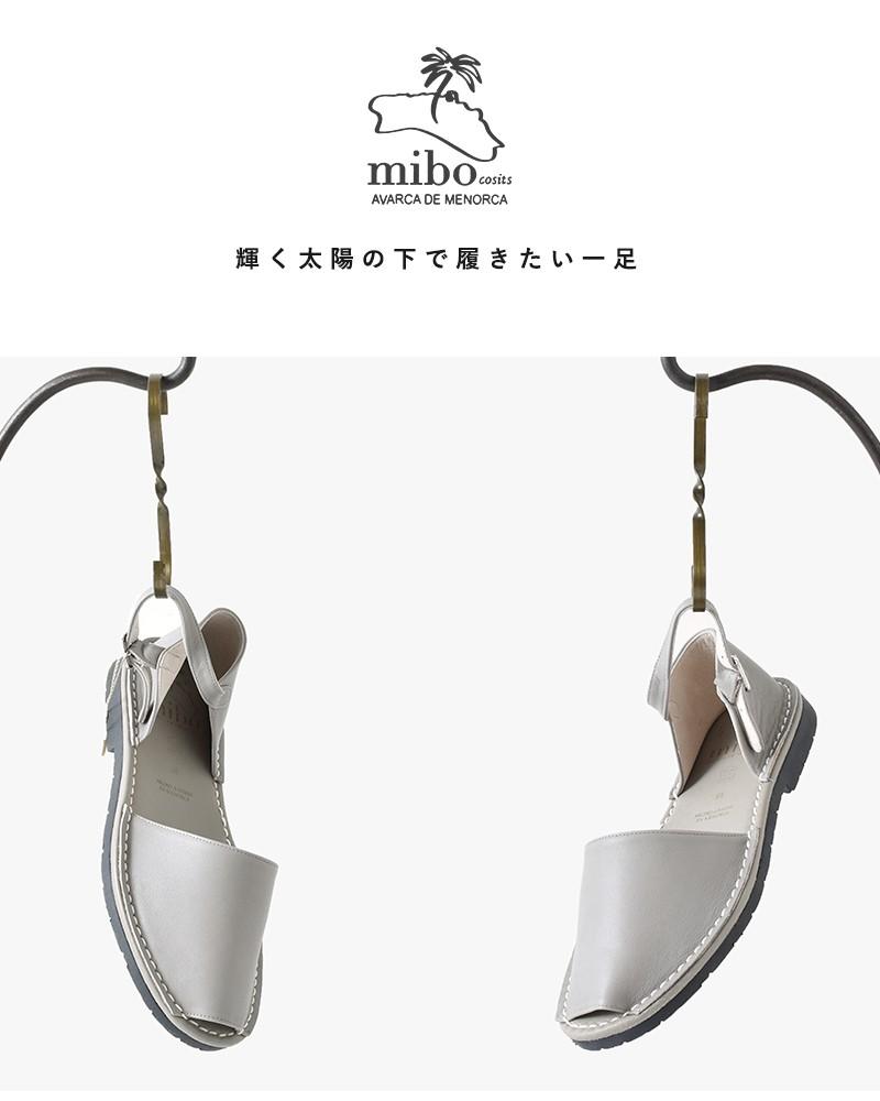 mibo(ミボ)レザーヒールカップメノルカサンダル309
