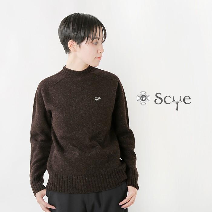 Scye(サイ)シェットランドウールクルーネックセーター 5220-13601