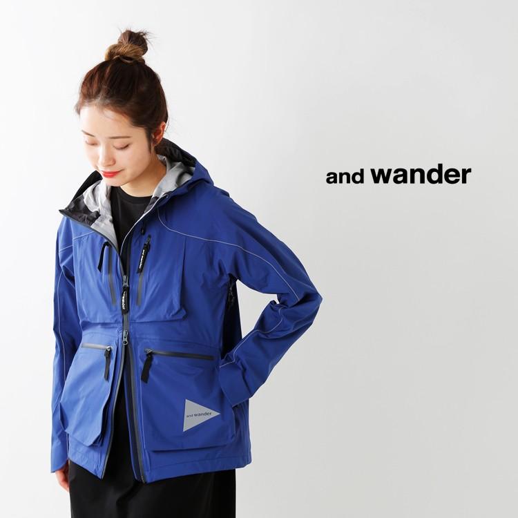 and wander(アンドワンダー)イーベントドロッピングポケットレインジャケット 574-0111003