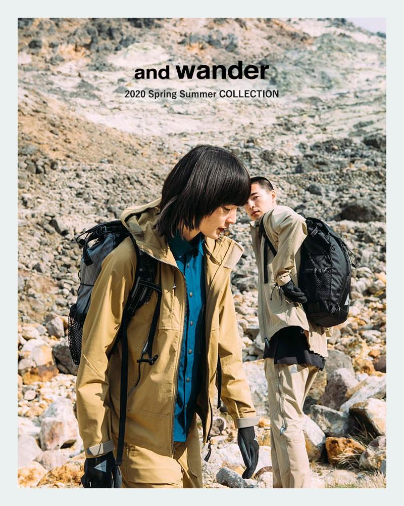 and wander(アンドワンダー)リフレクティブプリントTシャツ 574-0985003