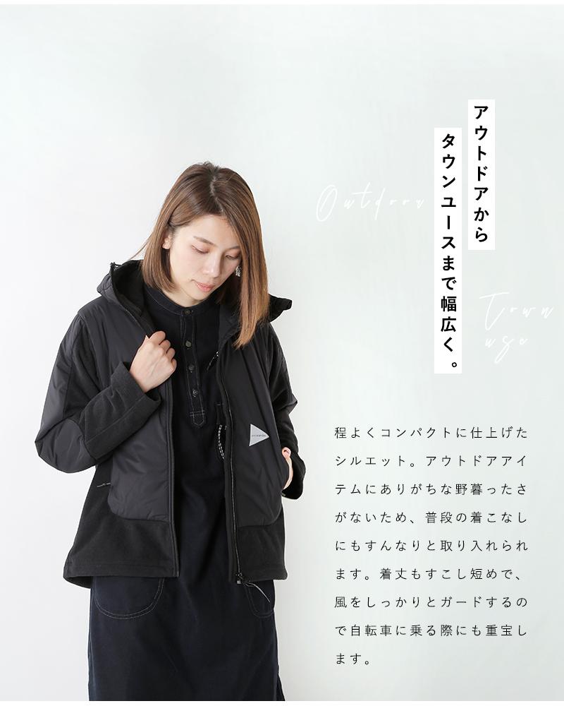 """and wander(アンドワンダー)ツイルフリースジャケット""""top fleece jacket"""" 574-0231026"""