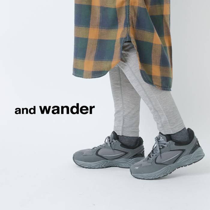 and wander(アンドワンダー)メリノウールベースタイツ 574-0962054