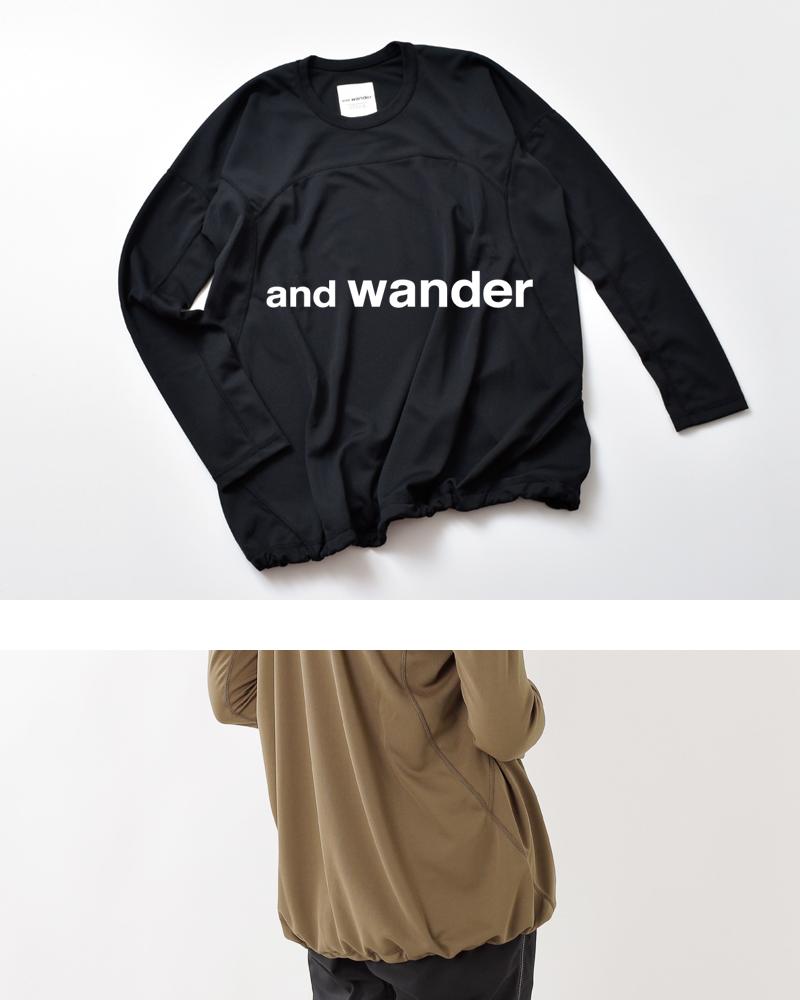 "and wander(アンドワンダー)ドライジャージーロングスリーブTシャツ""dry jersey long sleeve T for WOMEN"" 574-0964002"