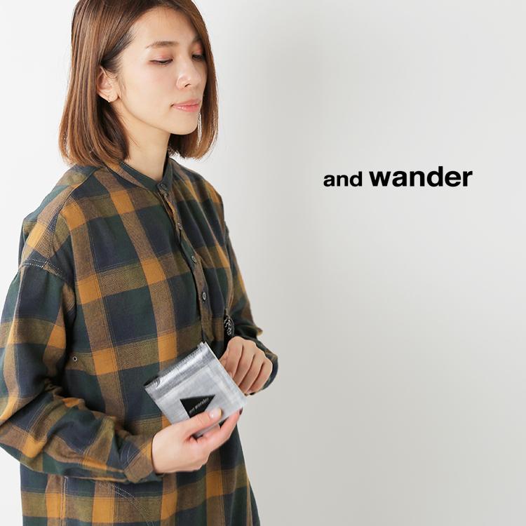 and wander(アンドワンダー)ハイブリッドキューベンファイバー ウォレット 574-0977533