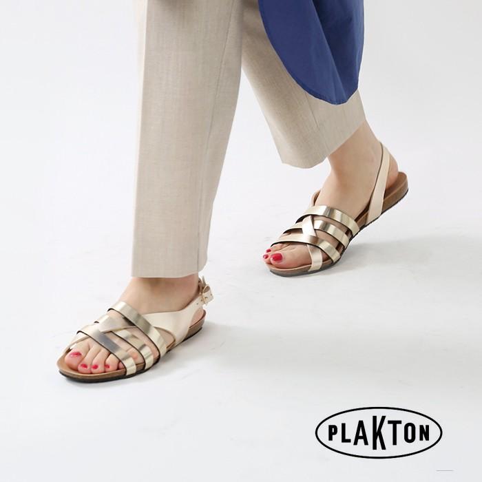 PLAKTON(プラクトン)レザーフラットサンダル 575543