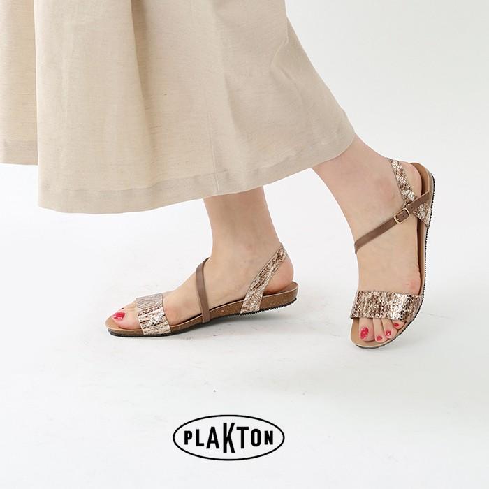 PLAKTON(プラクトン)レザーフラットサンダル575683