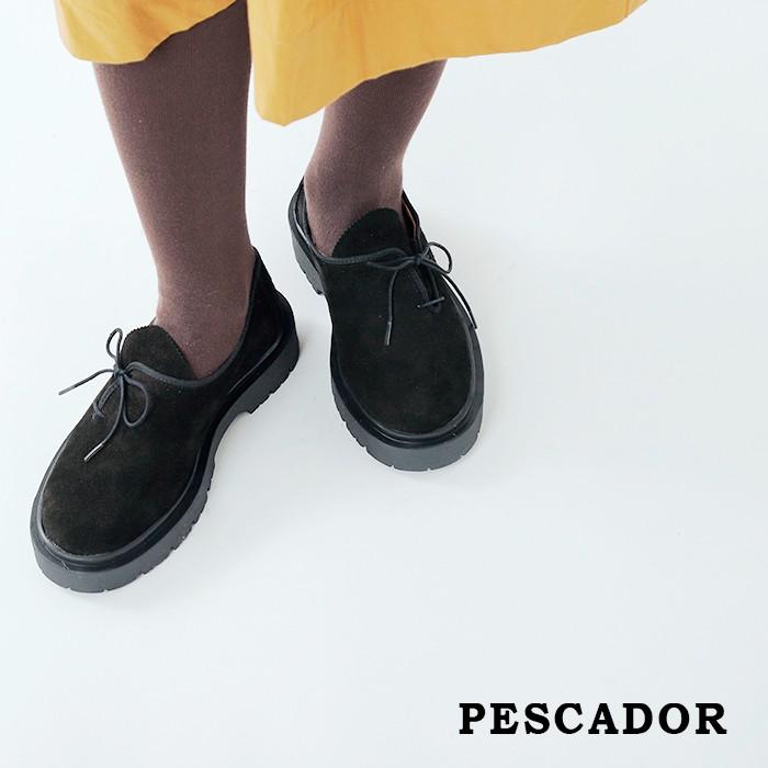 PESCADOR(ペスカドール)チロリアンサイドレースアップスウェードシューズ 5885