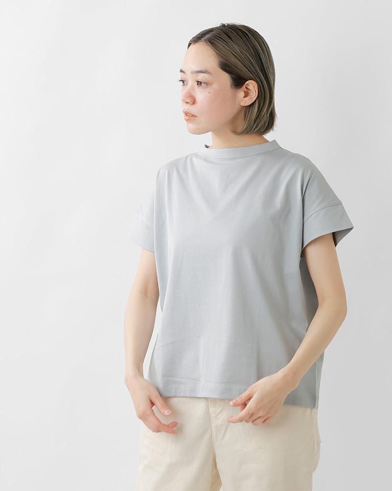 handvaerk(ハンドバーク)60/2ジャージーボトルネックショートスリーブTシャツ 6250