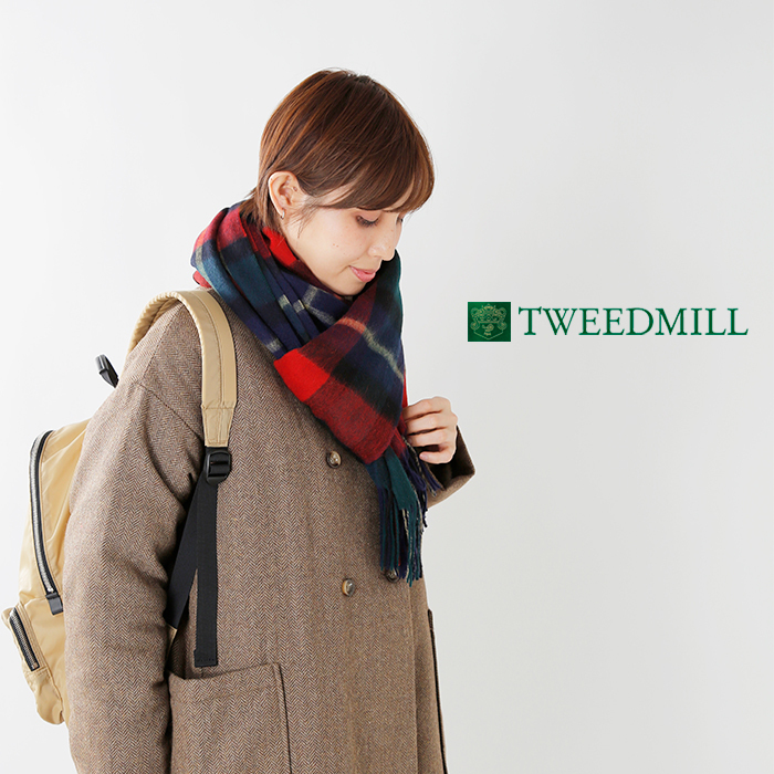 TWEEDMILL(ツイードミル)ピュアウールチェックストール 70-190