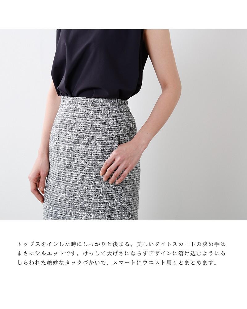 ESPEYRAC(エスペラック)ラメ糸MIXトライスピンブッチャースカート7753408