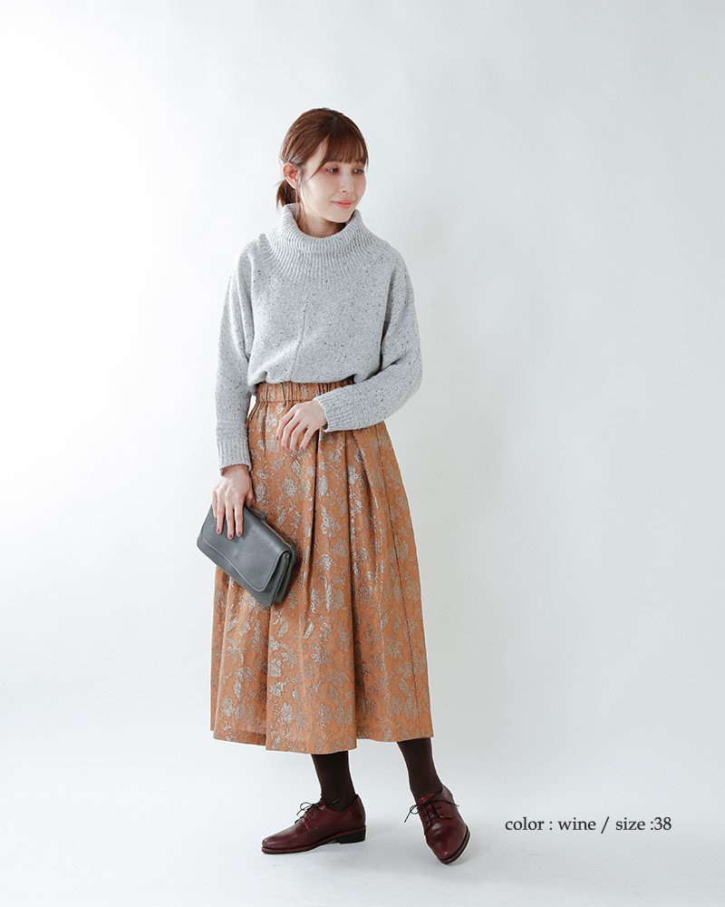 yuko imanishi+(ユウコイマニシプラス)キップレザーレースアップシューズ 781019