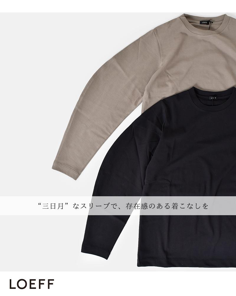 LOEFF(ロエフ)オーガニックコットンクレセントスリーブTシャツ 8812-699-0003