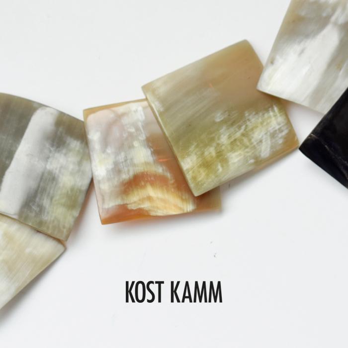 KOSTKAMM(コストカム)ウォーターバッファローホーンスクエアヘアクリップ/バレッタ 9539