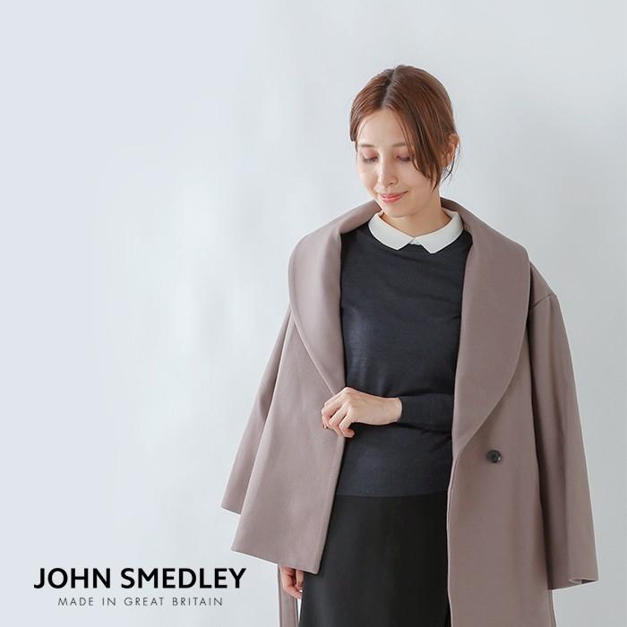 JOHN SMEDLEY(ジョンスメドレー)100%メリノウール30G襟付きニットプルオーバー a4194
