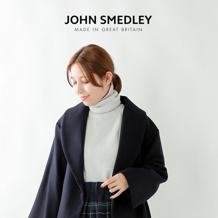 JOHN SMEDLEY(ジョンスメドレー)エクストラファインメリノ×カシミヤタートルネックニットプルオーバー a4346