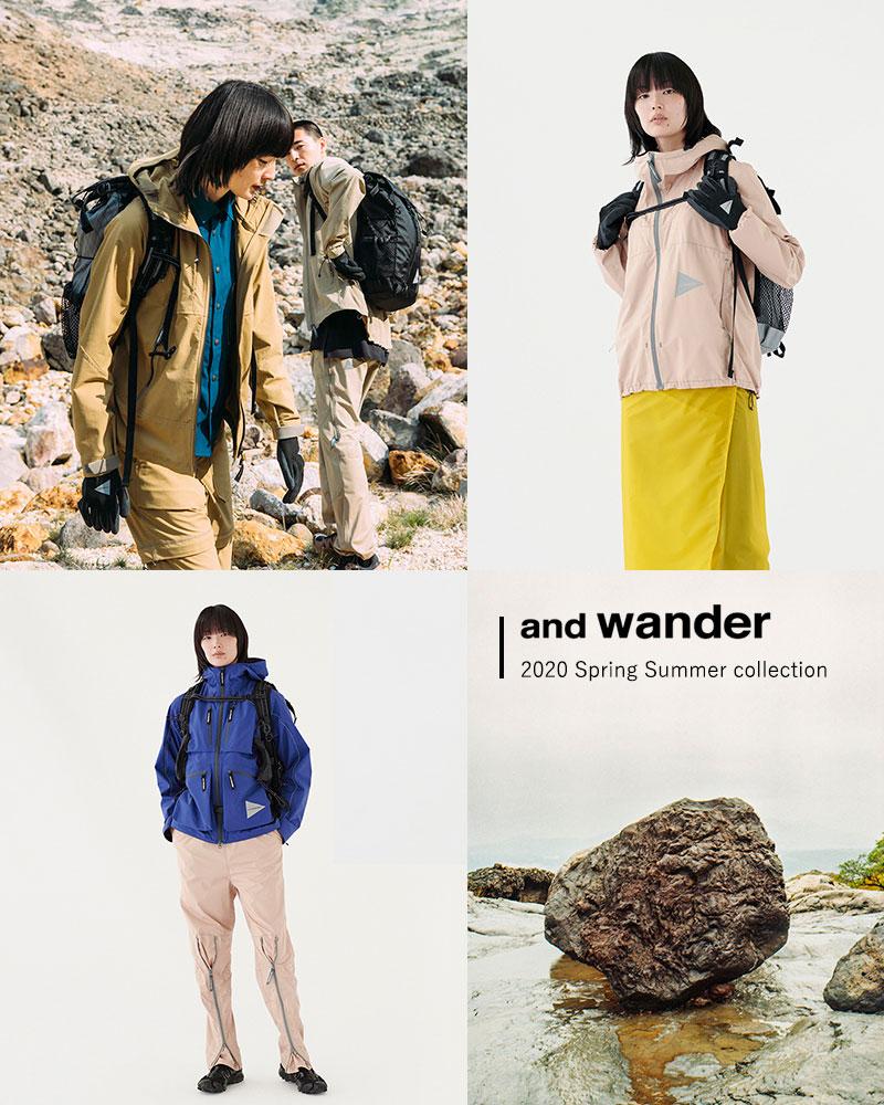 and wander(アンドワンダー)プリントフライレインロングコート 574-0111001