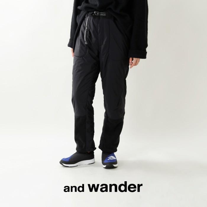 and wander(アンドワンダー)トップフリースパンツ aw83-jf639