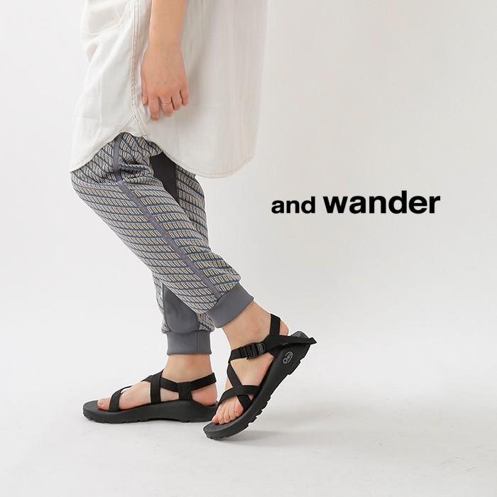 and wander(アンドワンダー)ダブルジャカードニットロングパンツ aw91-jf061