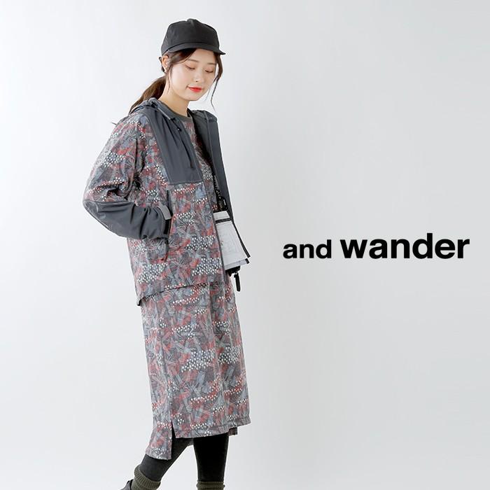 and wander(アンドワンダー)プリンテッドUVシールドドライポンチチュニック aw91-jh056