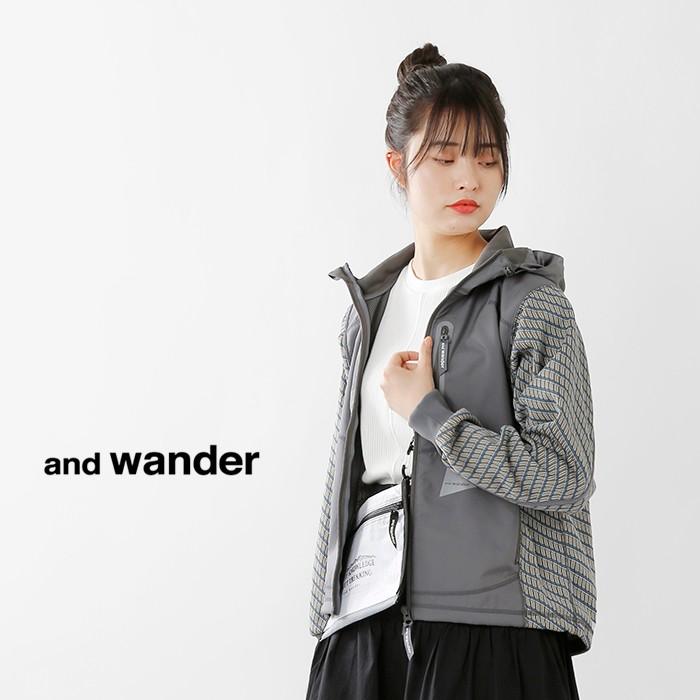 andwander(アンドワンダー)ダブルジャカードフーディージャケットaw91-jt059