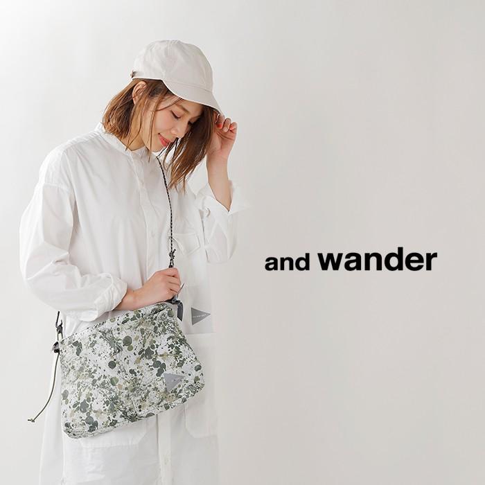 and wander(アンドワンダー)スプラッタープリントサコッシュ aw93-aa088