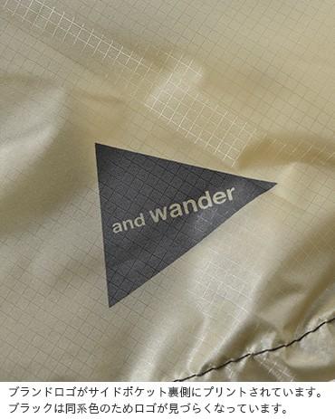 and wander(アンドワンダー)silサコッシュ aw93-aa920