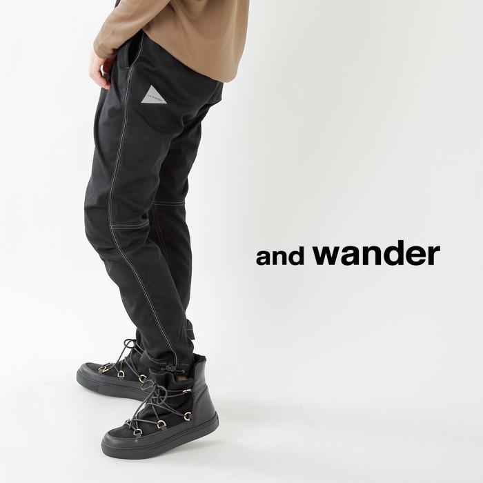 and wander(アンドワンダー)ポリエステルクライミングパンツ aw93-ff646