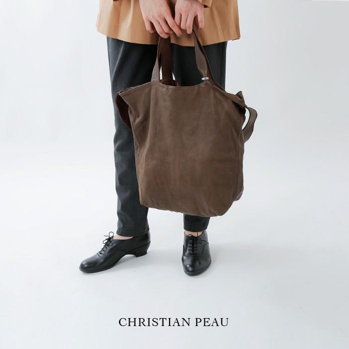 CHRISTIAN PEAU(クリスチャン・ポークリスチャンポー)2wayカウスキンレザートート&ショルダーバッグ bd-20totevcw