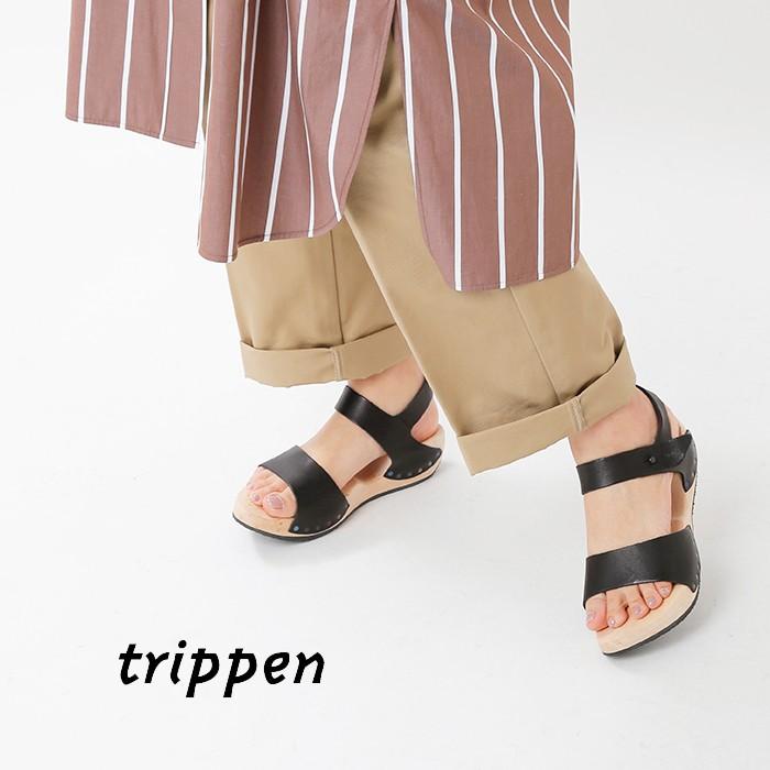trippen(トリッペン)カウレザーストラップサンダル betty-waw91