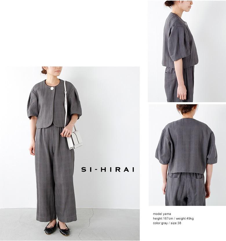 SI-HIRAI(スーヒライ)ノーカラークラシカルドビージャケット chss17-3502