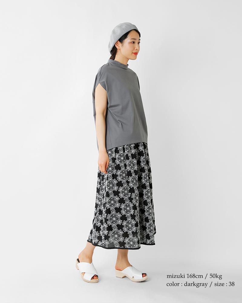 SI-HIRAI(スーヒライ)プレミアムオーガニックコットンフレンチスリーブラウンドTシャツchss21-4107