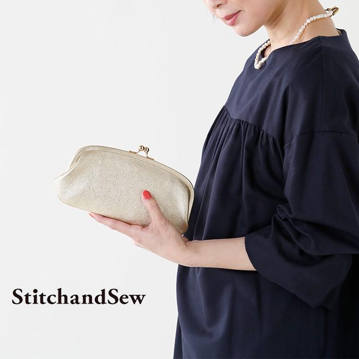 StitchandSew(スティッチアンドソー)がま口カウレザーウォレットclw100-101