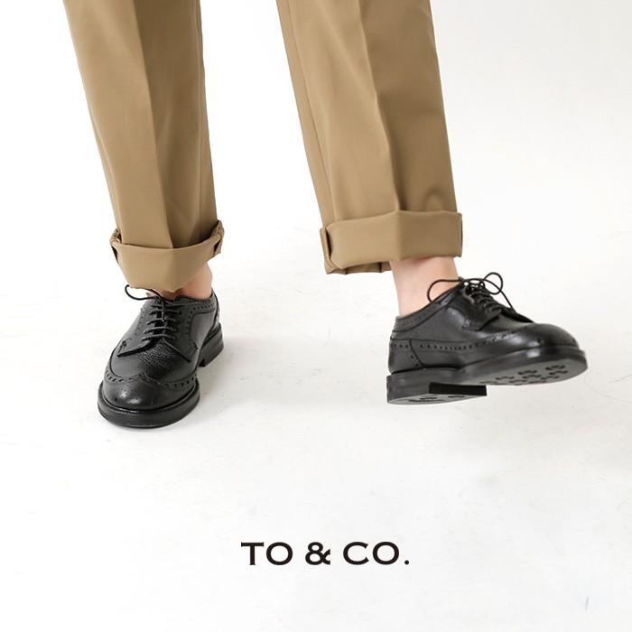 TO&CO.(トゥーアンドコー)レザーウィングチップシューズ commerce