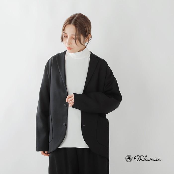 Dulcamara(ドゥルカマラ)ウール100%よそいきスロープジャケット d219-j111-p