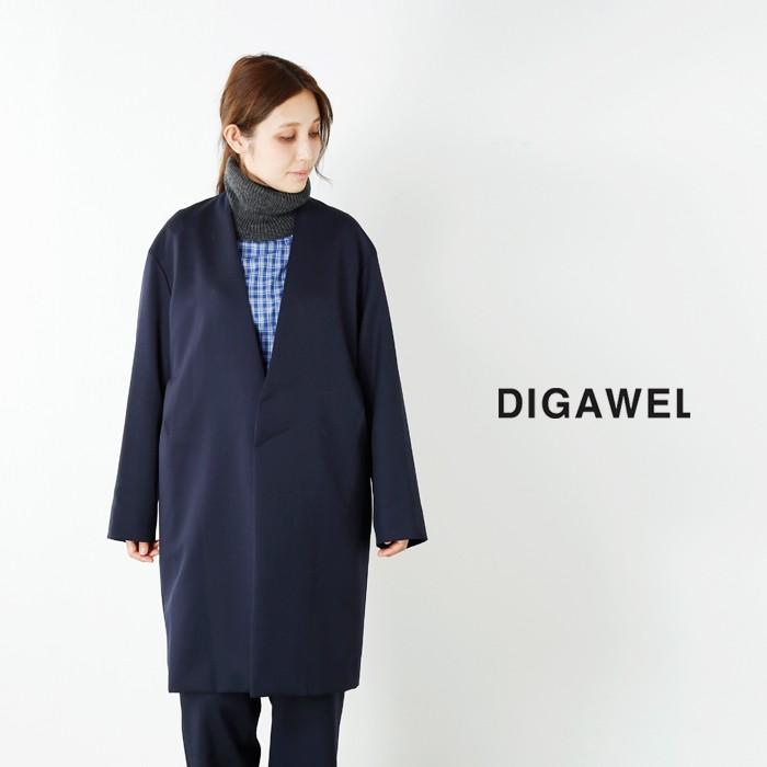 DIGAWEL(ディガウェル)ウールノーカラーコート dwqob001