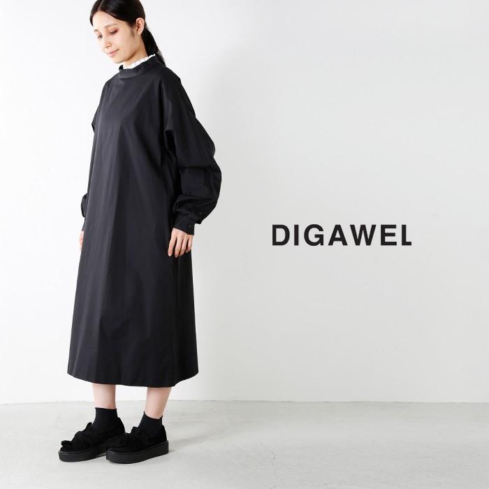 DIGAWEL(ディガウェル)オフネックコットンシャツワンピース dwqob032