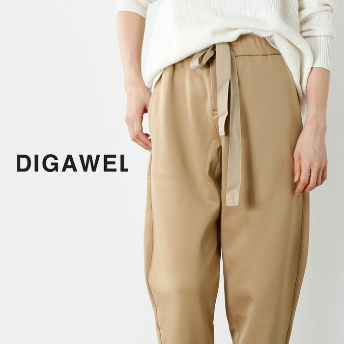 DIGAWEL(ディガウェル)ウエストリボンテーパードパンツ  wqob099y