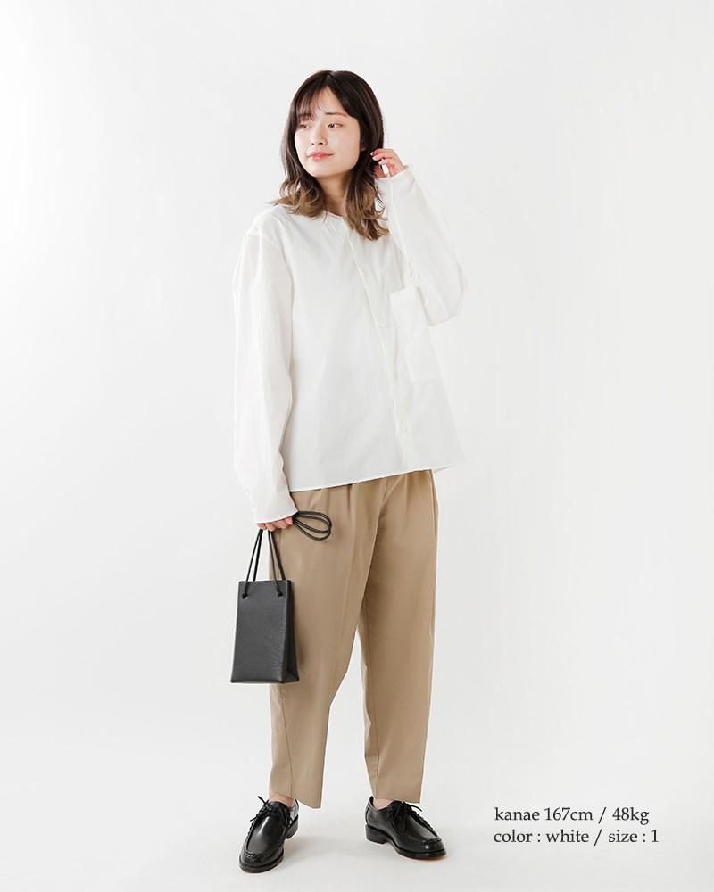DIGAWEL(ディガウェル)フロントポケットカラーレスシャツ dwtoa019