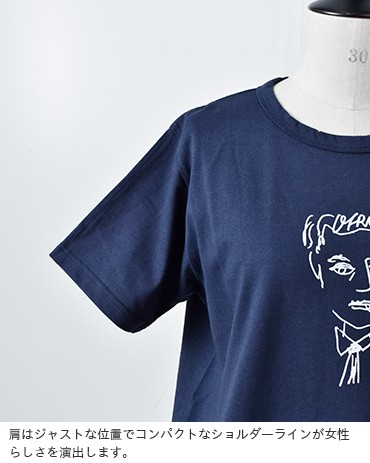 """EEL(イール)コットンプリントTシャツ""""OFRANCE×ヒラノトシユキ"""" e-19513"""