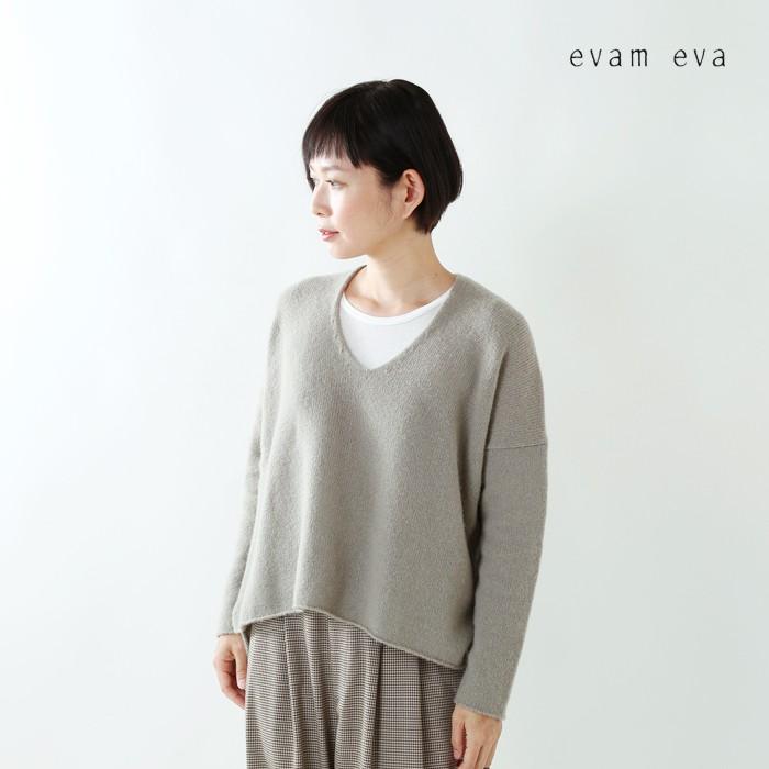 evameva(エヴァムエヴァ)ウールカシミヤVネックプルオーバーe183k151