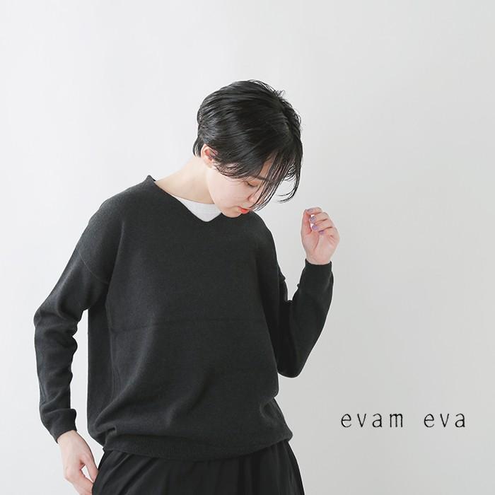 evam eva(エヴァムエヴァ)カシミヤVネックプルオーバー e203k063