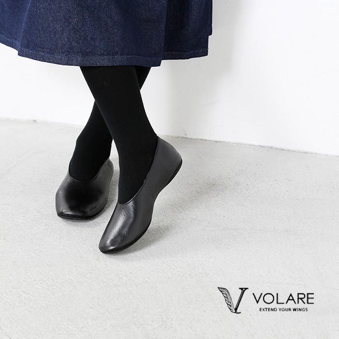 volare(ヴォラーレ)カーフレザーフラットパンプスeclosion4
