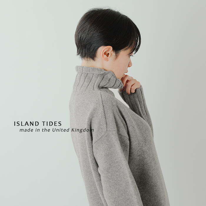ISLAND TIDES(アイランドタイド)aranciato別注 タートルネックニットプルオーバー ey-18204
